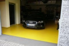 Garage einfarbig - Schwelle Coloritquarz-Einstreuung
