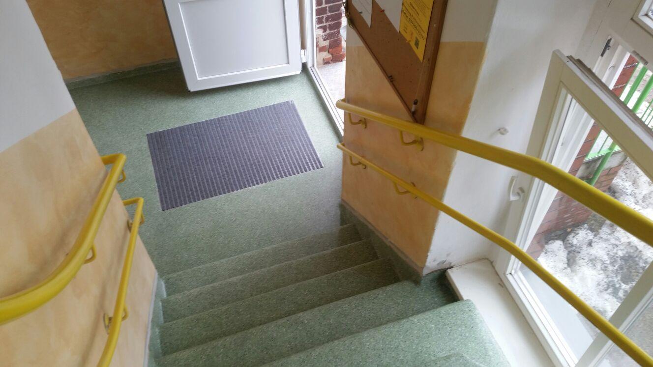Chipsbeschichtung mit Abstreifer im Eingangsbereich