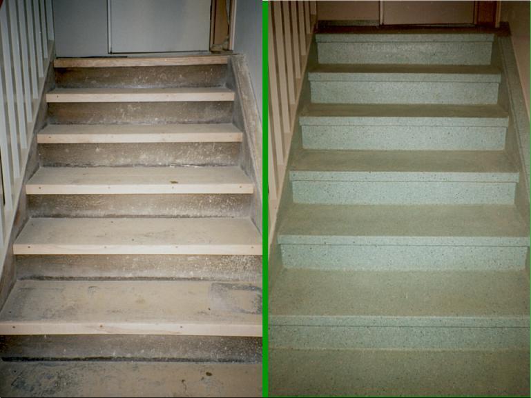 Holztreppe vorher / nachher