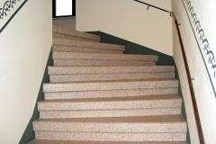 Chipsbeschichtung - Treppe gewendelt